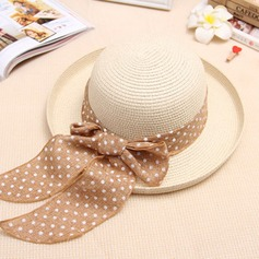 Ladies' Lovely Rattan Straw With Bowknot Bowler/Cloche Hat/Beach/Sun Hats