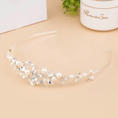 Elegant Crystal/Imitation Pearls Tiaras With Rhinestone