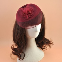 Damer' Elegant polyester med Siden blomma Fascinators/Tea Party Hattar