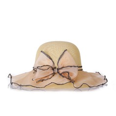 Ladies' Glamourous/Pretty Linen With Bowknot Floppy Hat