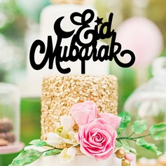 Eid al-Fitr Religious/Classic Acrylic Cake Topper (Sold in a single piece)