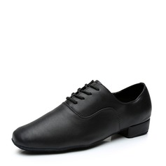 Men's Leatherette Latin Modern Ballroom Party With Lace-up Dance Shoes