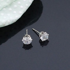 Brillant Alliage/Zircon de Dames Boucles d'oreilles