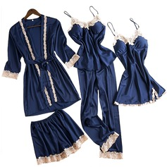 Polyester Classic Feminine Pajama Sets (Set of 4) (041215750)