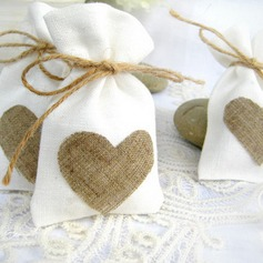 Favor Bags With Heart Charm  (050067144)