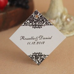 Personalized Floral Design Hard Card Paper Tags