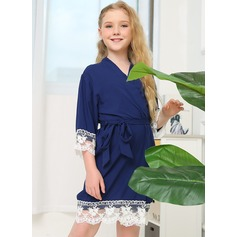 Lace Flower Girl Blank Robes Lace Robes
