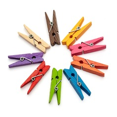 Colorful Wooden Clip