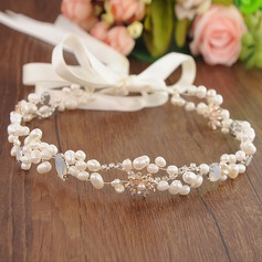 Glamourous Alloy Headbands With Venetian Pearl (Sold in single piece)