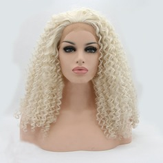 Curly Synthetic Hair Lace Front Wigs 220g