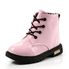 Girl's Round Toe Closed Toe Snow Boots Ankle Boots Martin Boots Leatherette Flat Heel Boots With Lace-up