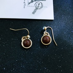 Chic Gold Plated Copper With Gold Plated Ladies' Fashion Earrings