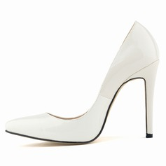 Women's Patent Leather Stiletto Heel Pumps Closed Toe shoes (085113473)