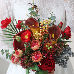 Charming Free-Form Silk Flower Bridal Bouquets -
