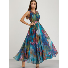 Chiffon Maxi Dress (199222331)