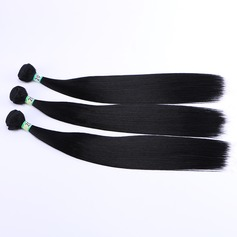 Straight Synthetic Hair Human Hair Weave (Sold in a single piece) 100g