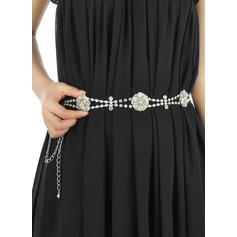 Stylish Alloy Belt With Rhinestones (015102266)