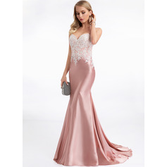 Trumpet/Mermaid Sweetheart Sweep Train Evening Dress (271230221)
