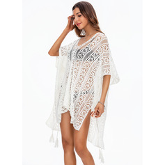 Elegant Solid Color Polyester Cover-ups (202228075)