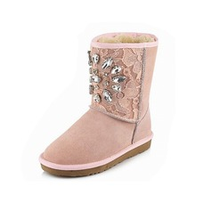 Women's Suede Flat Heel Snow Boots shoes