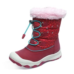 Unisex Round Toe Closed Toe Snow Boots Fabric Microfiber Leather Flat Heel Boots With Lace-up Zipper