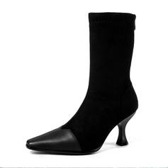 De mujer Ante Tacón stilettos Botas Botas longitud media con Material Block zapatos