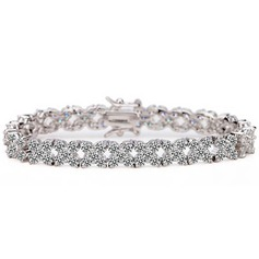 Shining Alloy With Cubic Zirconia Bracelets