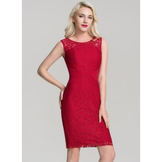 Lace With Lace/Stitching/Hollow Above Knee Dress (199133885)