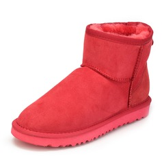 Women's Real Leather Flat Heel Boots Snow Boots shoes