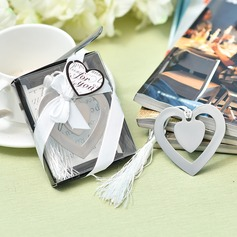 """Love Story""/Heart Shaped Heart Shaped Stainless Steel Bookmarks"