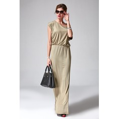 Sheath/Column One-Shoulder Floor-Length Polyester Cocktail Dress