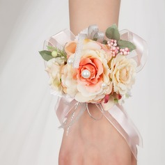 Attractive Free-Form Satin Wrist Corsage