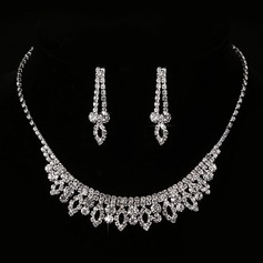 Beautiful Rhinestones/Copper With Rhinestone Ladies' Jewelry Sets