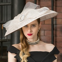 Ladies' Romantic/Vintage/Artistic Cambric With Tulle Fascinators/Kentucky Derby Hats