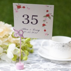 Personalized Flower Design Card Paper Table Number Cards