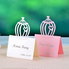 Birdcage Shaped Pearl Paper Place Cards
