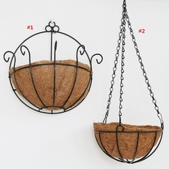 Metal Hanging Basket Flower Pot Wall Decoration