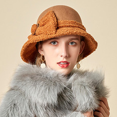 Ladies' Glamourous/Charming/Romantic Wool With Bowknot Bowler/Cloche Hats