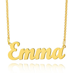 Custom 18k Gold Plated Letter Name Necklace - Christmas Gifts (288217710)