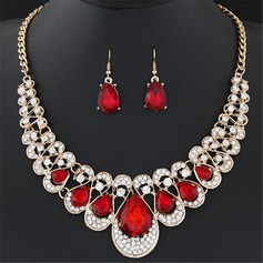 Beautiful Alloy Rhinestones With Rhinestone Ladies' Jewelry Sets (137108083)