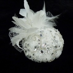 Stylish Rhinestone/Imitation Pearls/Feather/Lace Fascinators