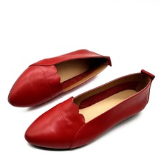Women's Real Leather Flats أحذية