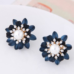Shining Alloy Rhinestones Fashion Earrings