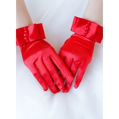 Satin Wrist Length Bridal Gloves (014205753)