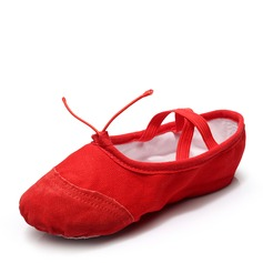 Unisex Canvas Flats Ballet With Lace-up Dance Shoes