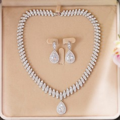 Beautiful Zircon Ladies' Jewelry Sets (011110900)