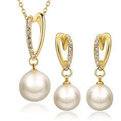 Beautiful Alloy With Imitation Pearl Ladies' Jewelry Sets