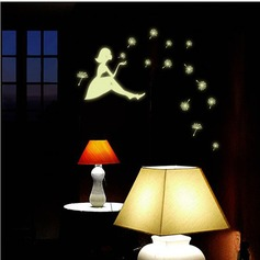 New Fashion Fairy Stars Luminous Cartoon Switch Stickers Toilet Stickers Fluorescent Wall Sticker Kid Room Decoration (Sold in a single piece)