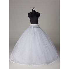 Women Tulle Netting/Satin/Lace Floor-length 8 Tiers Bustle