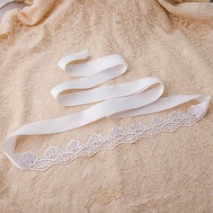 Classic Satin Sash With Lace